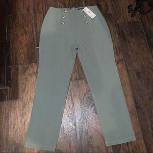 Sage green Boohoo trouser